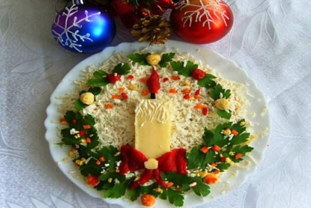 Украшение салатов на Новый 2021 год: как украсить, самые лучшие идеи52