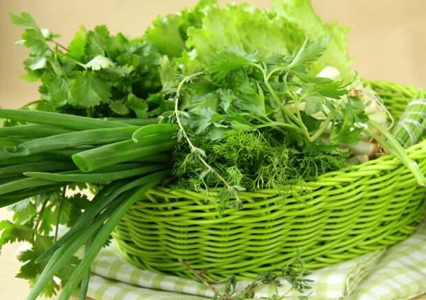 8. Зелень продукты, хранение