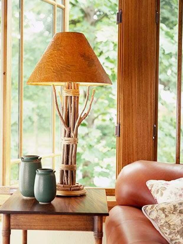 Светильники из палок (подборка, 2Diy)