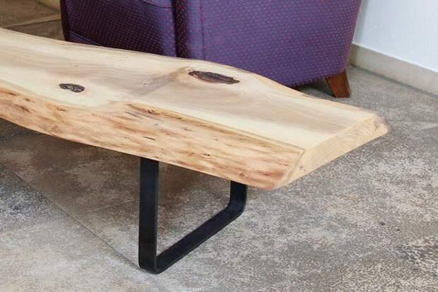 Деревянный журнальный столик, массивная деревянная столешница