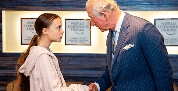 Принц Чарльз познакомился с Гретой Тунберг