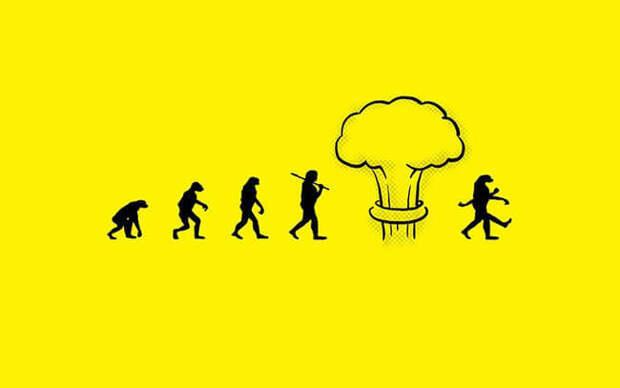 Сатирические иллюстрации о прогрессе человечества