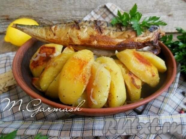 Рецепт скумбрии, запеченной в духовке с картошкой