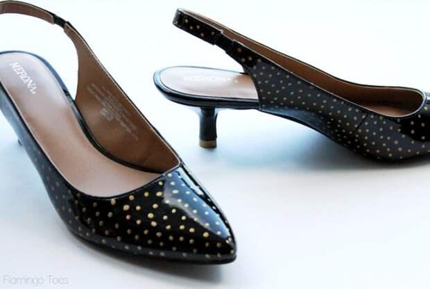 Переделка чёрных туфель лодочек (Diy)