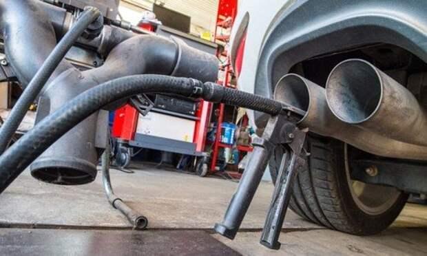 Тестирование чистоты автомобильного выхлопа