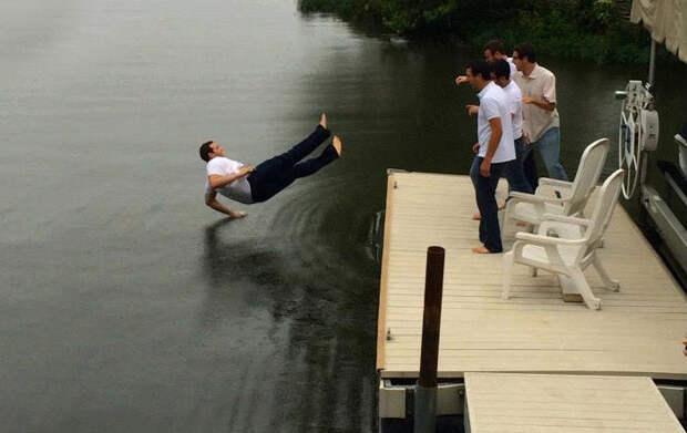15. Брейк-данс на воде момент, фотография