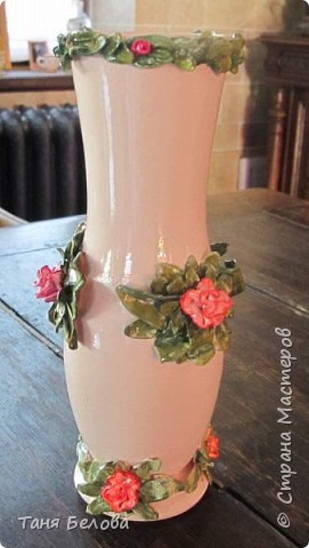 Декор предметов Мастер-класс Лепка Фарфоровая ваза Глина Краска фото 8