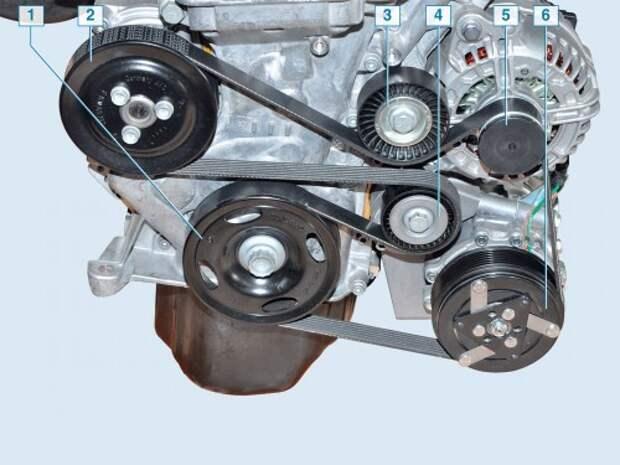 Проверка и замена ремня привода вспомогательных агрегатов VW Polo седана