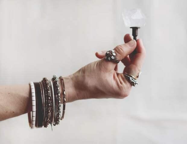 Дверные ручки с кристаллами (Diy)