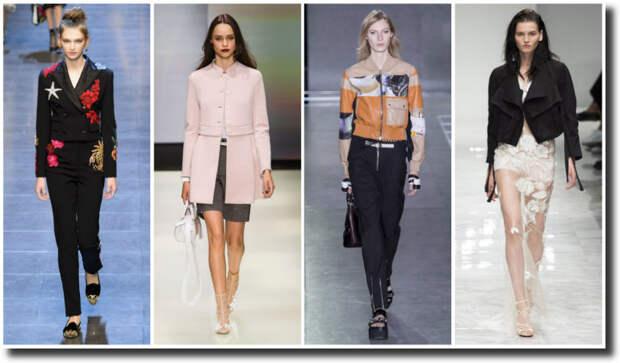 Модные жакеты весна-лето 2016