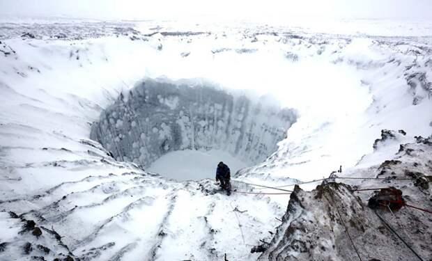 Ямальский кратер земля, красота, природа, россия