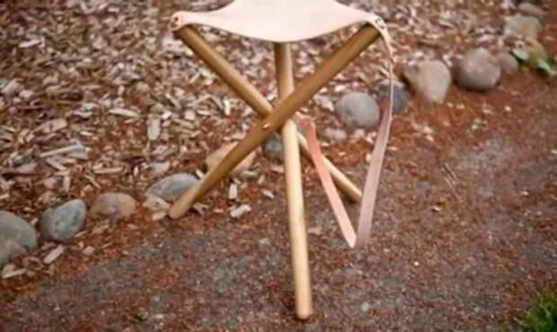 Рыбацкий стул на трех опорах