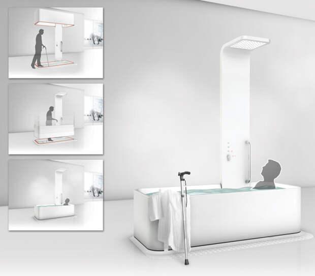 Поднимающаяся ванна  Elevance bathtub