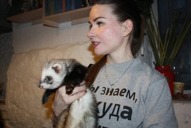 Жительница Строгина решила завести дома хорьков