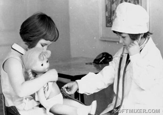 60-е-дети-игра-в-доктора