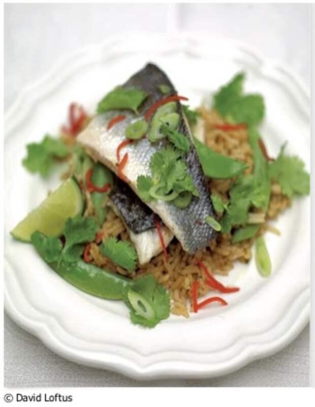 Сибас по-тайски с рисом - рецепт от Джейми Оливера