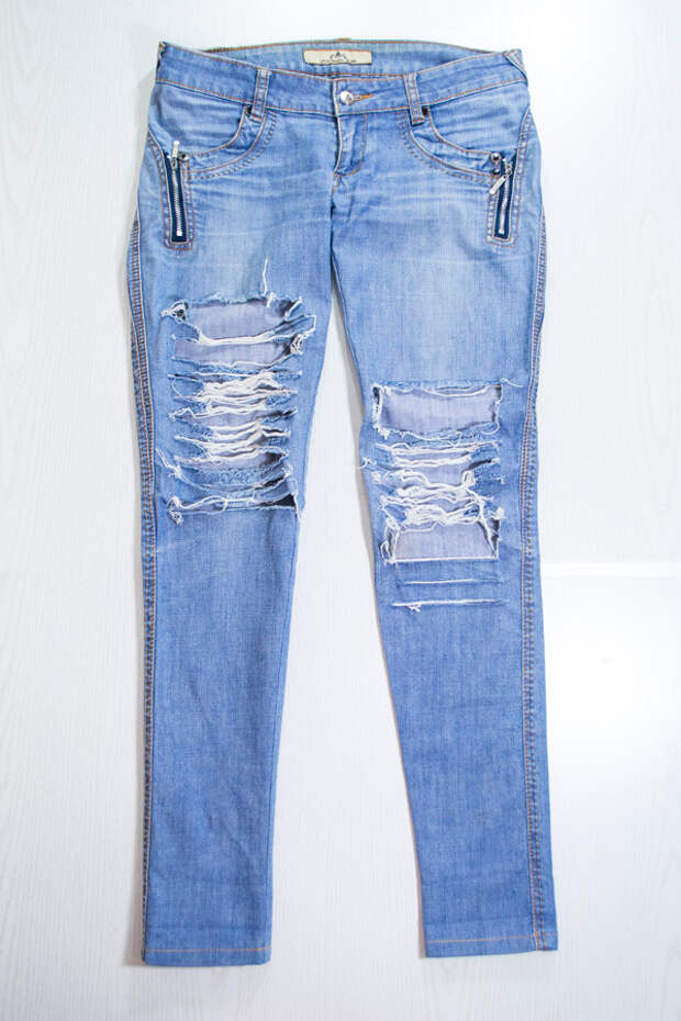 Как заузить джинсы