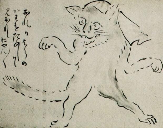 Бакэнэко - кошки из японского фольклора.