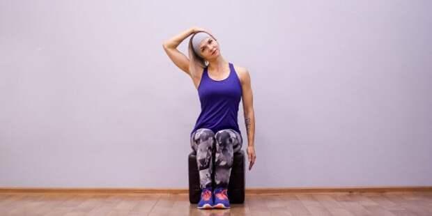 упражнения на гибкость: наклон головы