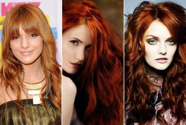 оттенки рыжих волос