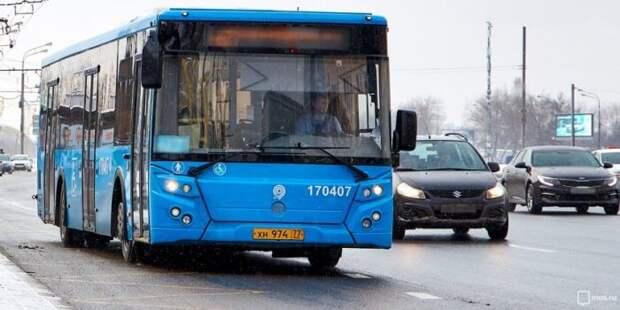 Изменены два автобусных маршрута на севере Москвы