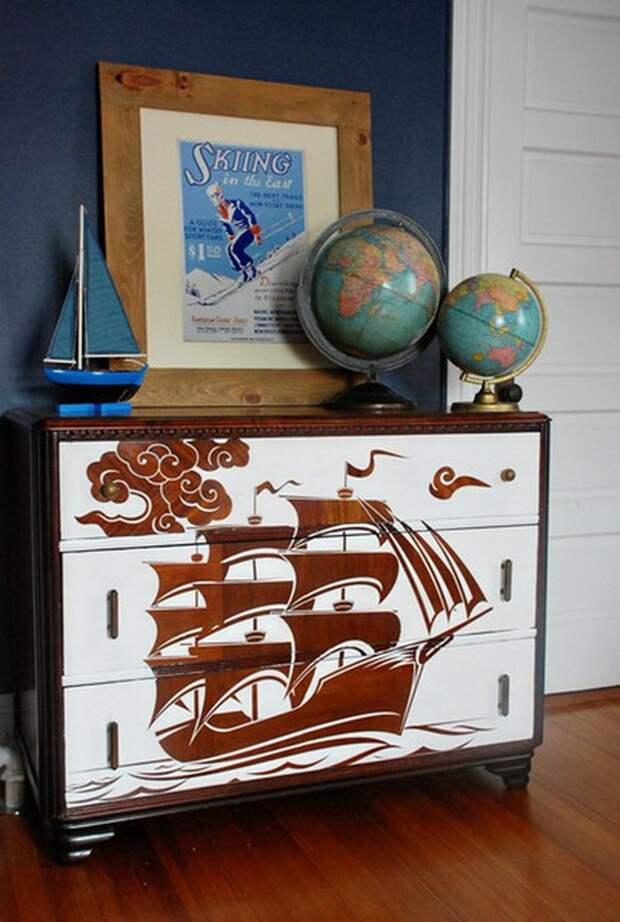 Декор мебели белой краской (подборка)