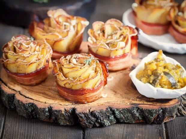 Хрустящие картофельные розочки. \ Фото: smak.ua.