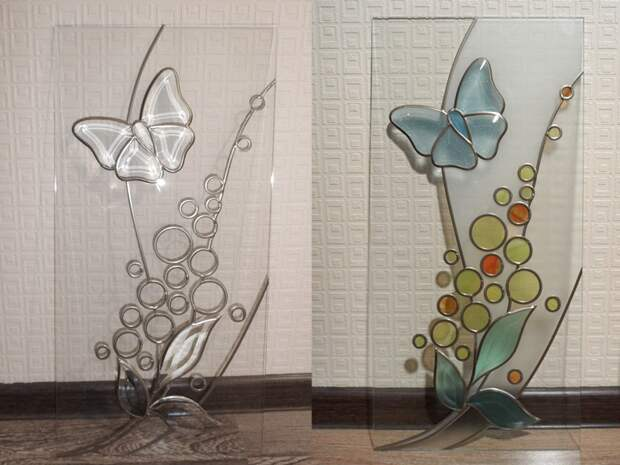 Видеоуроки по витражным техникам декора стёкол и зеркал