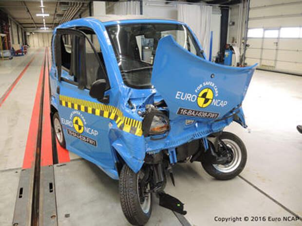 Euro NCAP огласил ужасающие результаты краш-тестов тяжелых квадроциклов