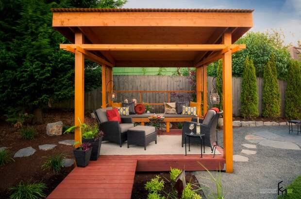 100 идей дизайна садовой беседки