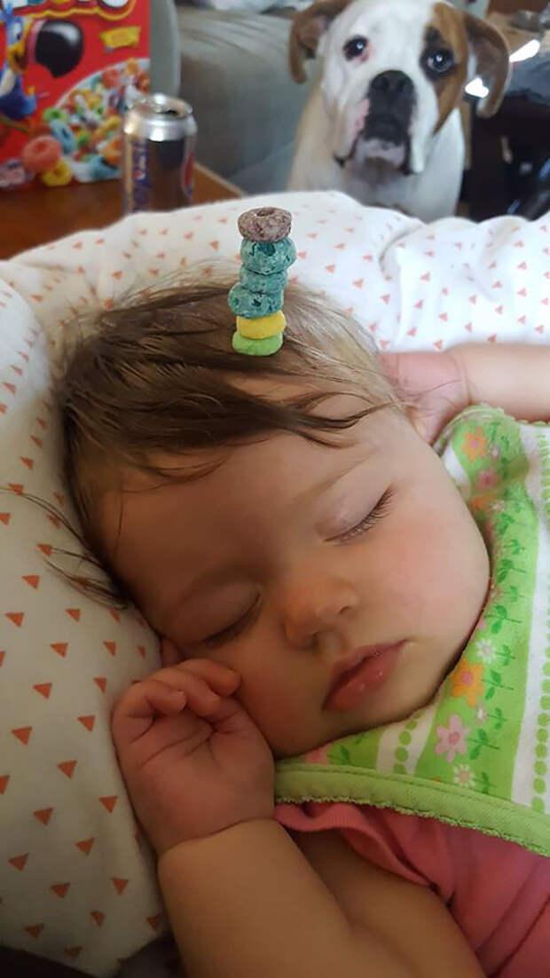 #КонкурсПап: сколько колец чериос удержится на твоем младенце?