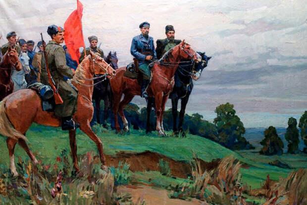 Шел под красным знаменем командир полка...
