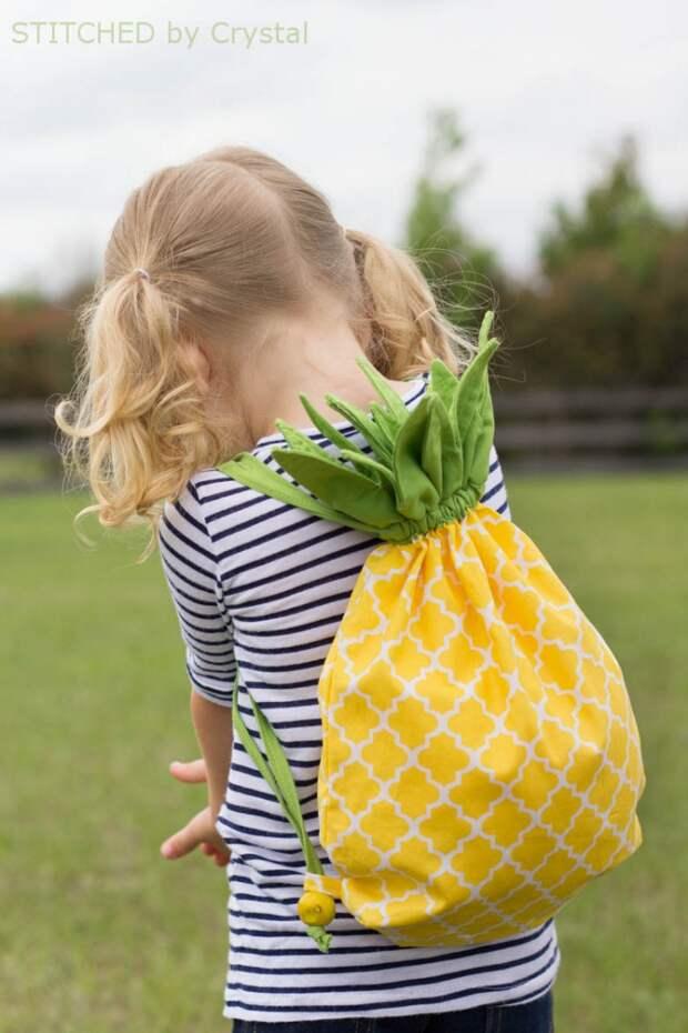 Рюкзак - ананас для детей своими руками