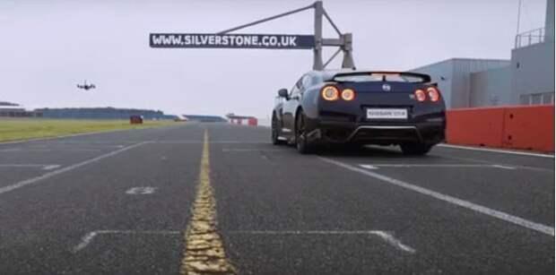 Nissan GT-R проиграл квадрокоптеру первую «сотню»