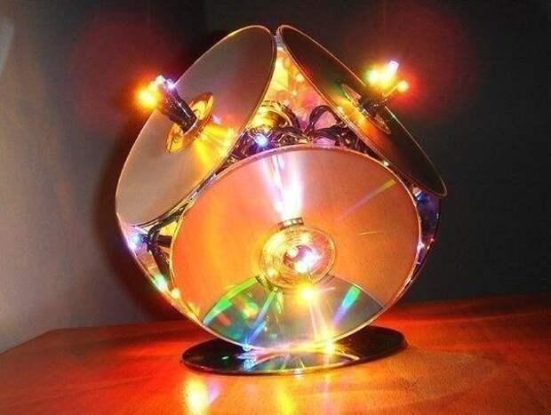 Лампа из гирлянды