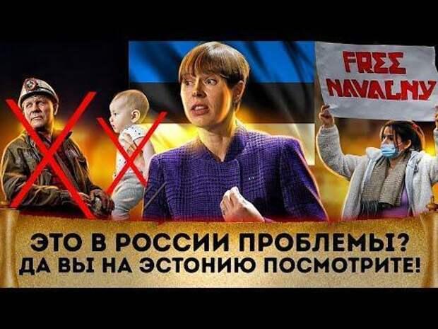 Это в России проблемы? Да Вы на Эстонию посмотрите! Торговый дефицит. Русофобия