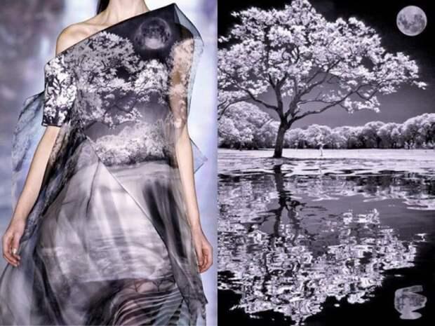 платье, срисованное с природы