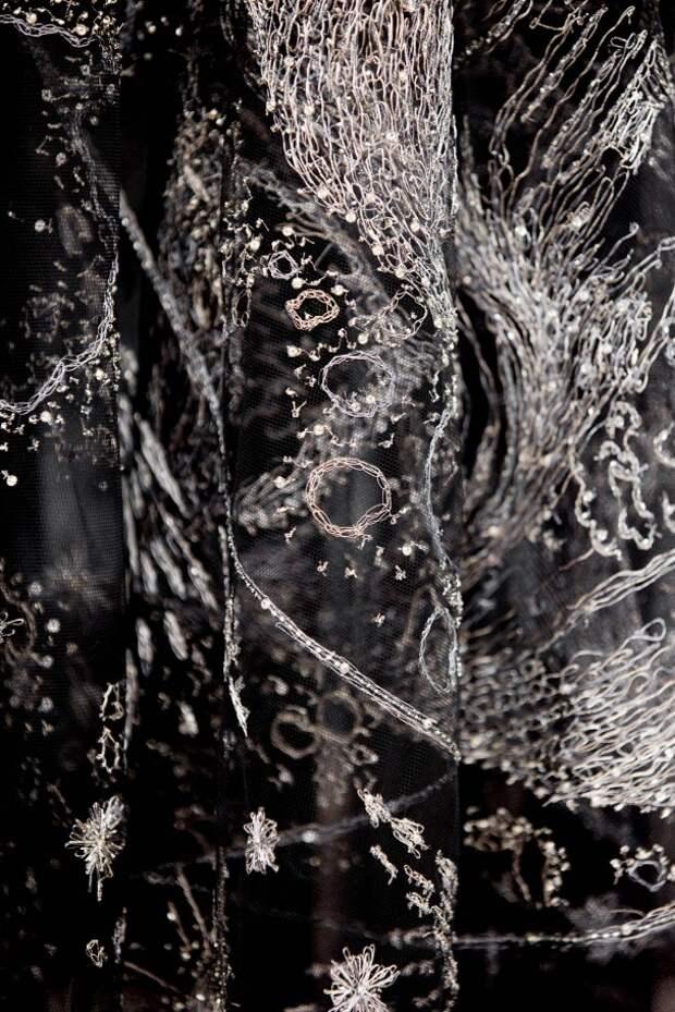 вышивка на кутюрных платьях диор
