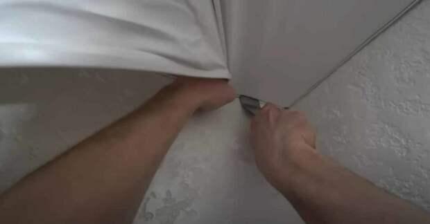 Как «на холодную» сделать натяжной потолок своими руками (без тепловой пушки)