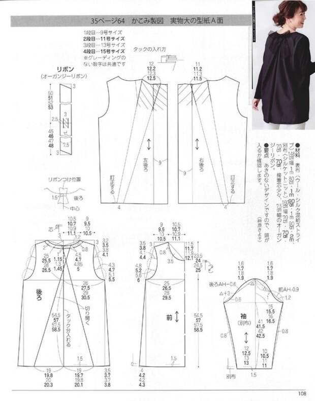 Японские выкройки (подборка)