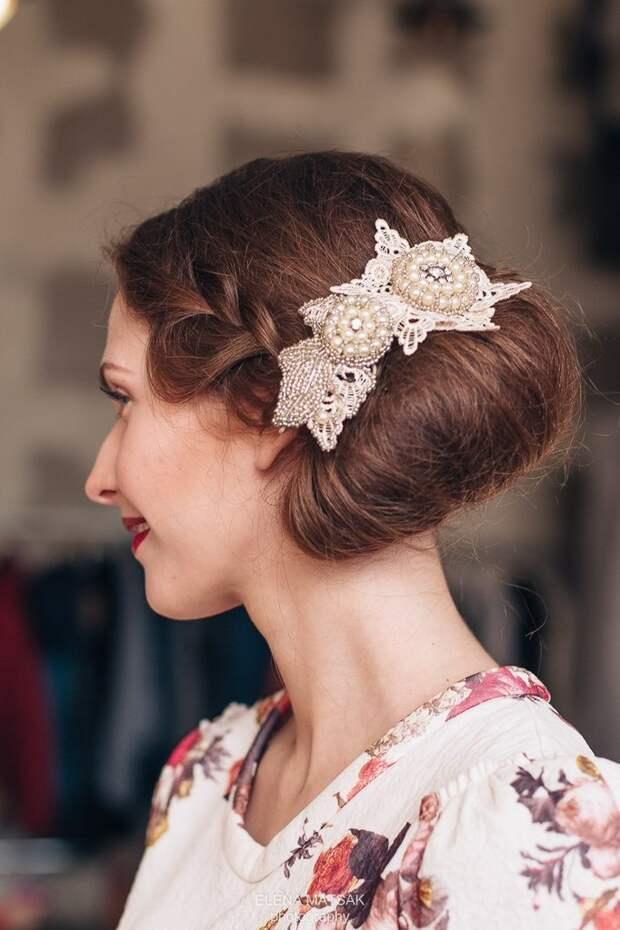 Свадебные (или просто красивые) украшения на голову