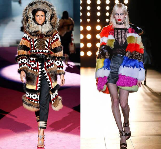Справа — Dsquared2, слева — Saint Laurent