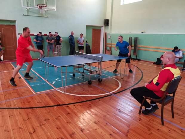 Спортсмены МЧС САО приняли участие в соревнованиях по настольному теннису