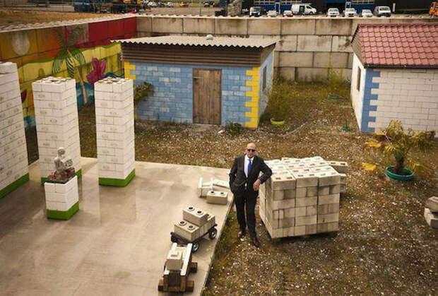 Строительные блоки из мусора блок, мусор