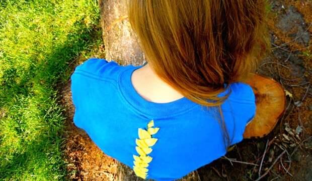 Хребет на футболке (Diy)