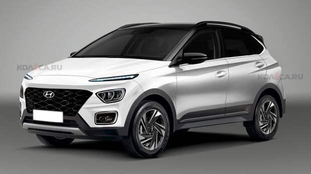 Hyundai готовит новый кроссовер начального уровня: первые изображения Bayon