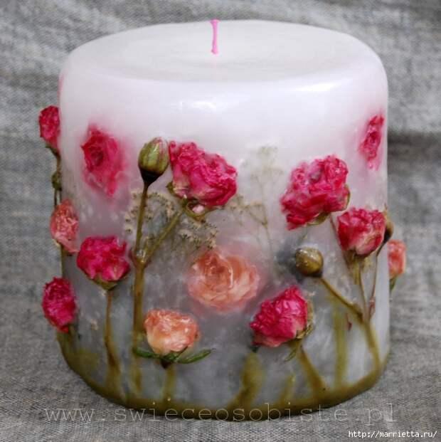 цветочные свечи ручной работы (78) (599x600, 196Kb)