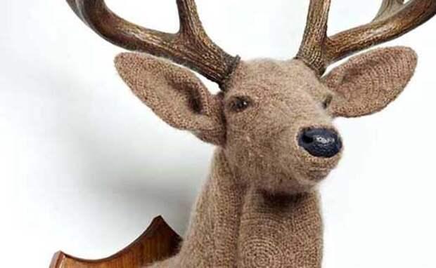 Подарки своими руками - это нужно постараться - Поделки своими руками: вязанные скульптуры животных