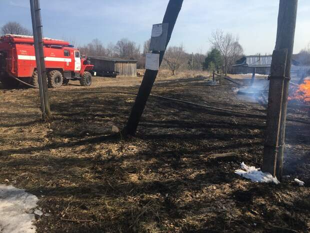 94-летний пенсионер из Вачского района погиб из-за поджога сухой травы