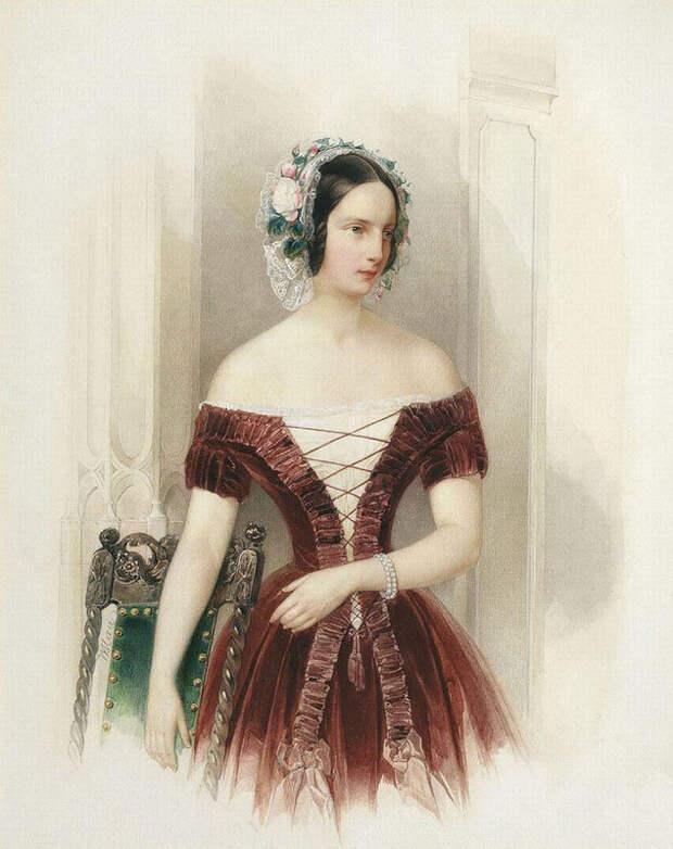 Украшения для волос из цветов в XIX веке